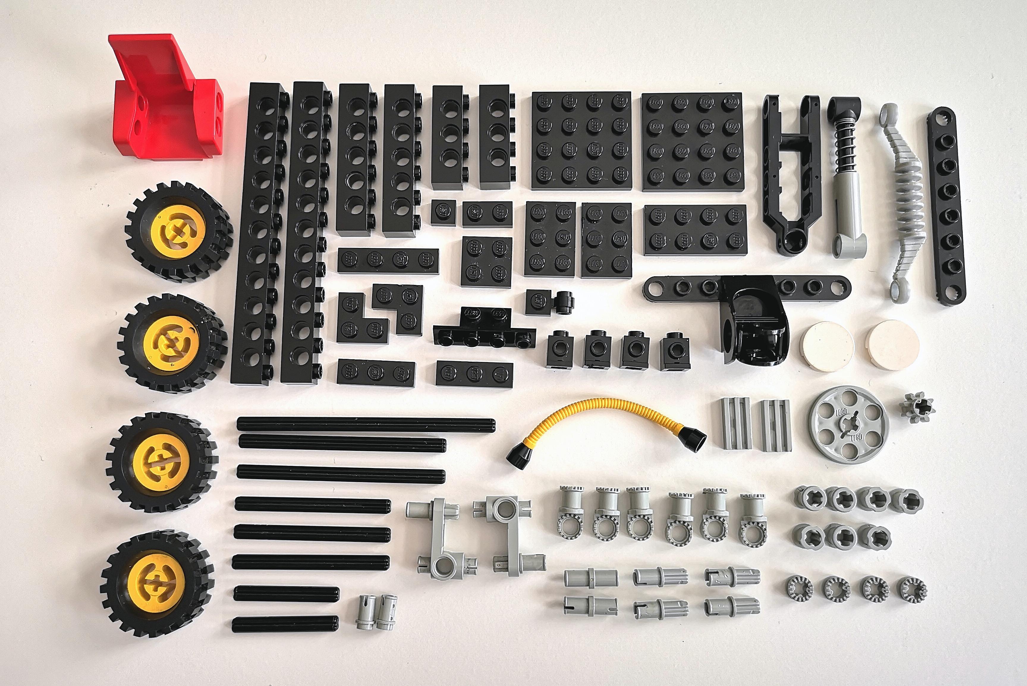 LEGO Set 8832 alle Teile auf einen Blick