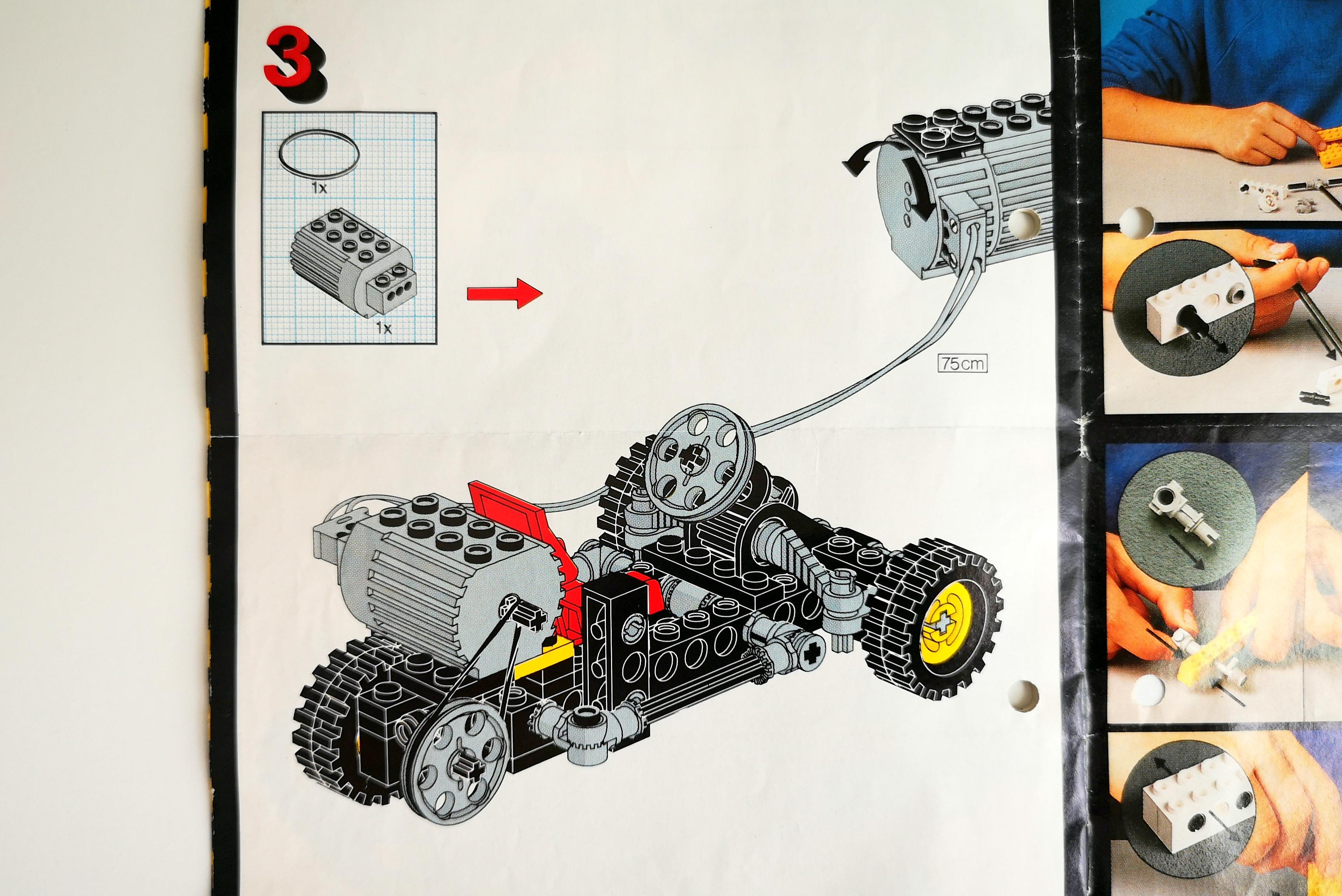 LEGO 8832 Review Alternativmodell mit Motor Set 8700 Einbau Anleitung