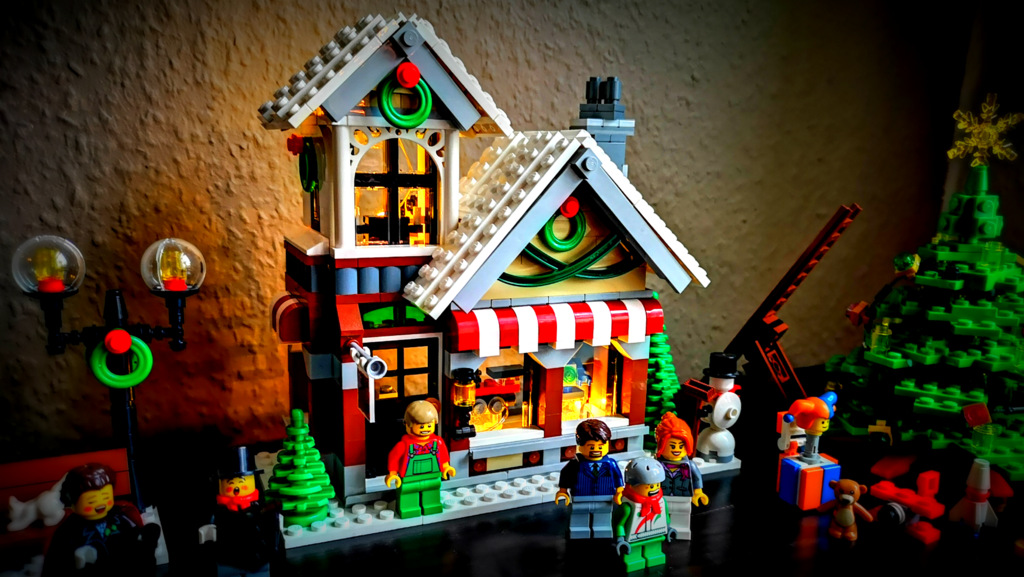 10249 LEGO Review Weihnachten Beleuchtung DIY