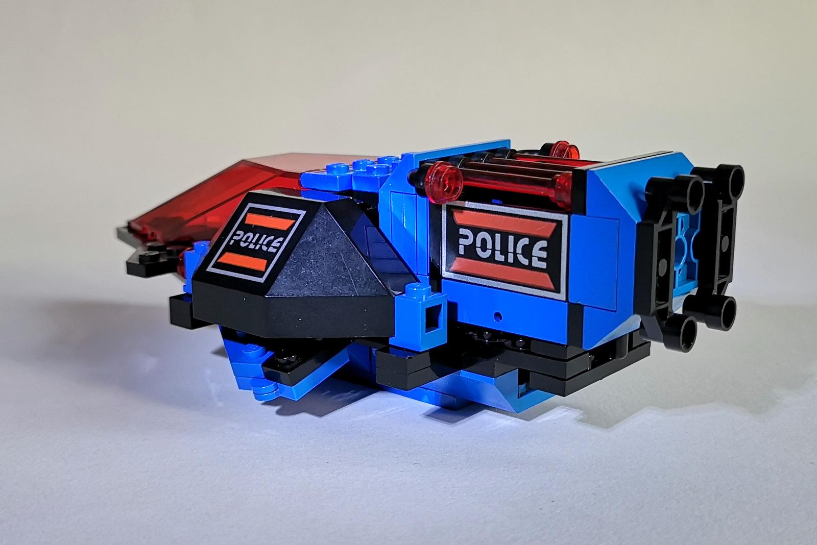 6886 LEGO Space Police Rauschiff von hinten