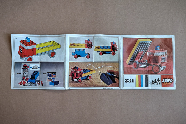 LEGO 331 Bauanleitung Front