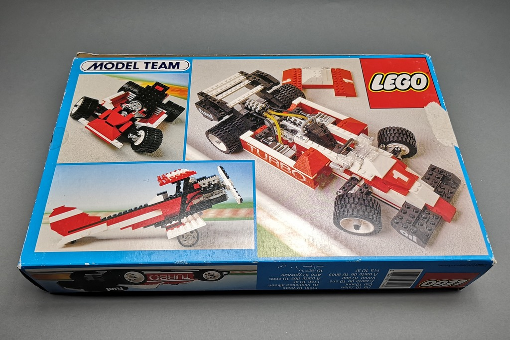 LEGO 5540 Model Team Racer Box Rückseite