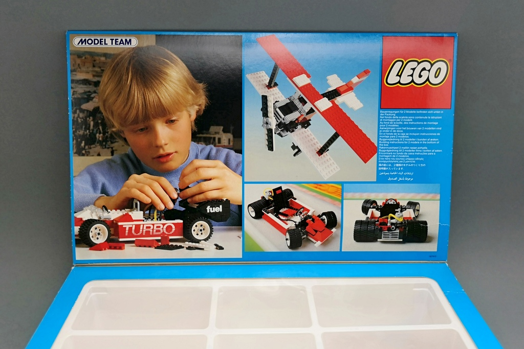 LEGO 5540 Model Team Racer Box innen