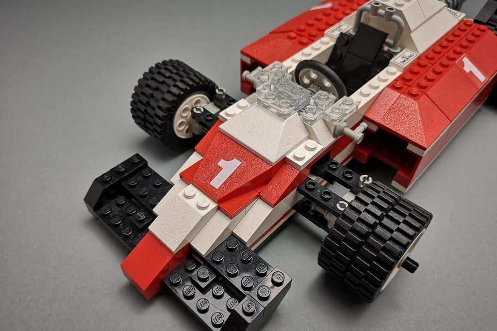 LEGO 5540 Model Team Racer Lenkung Detail