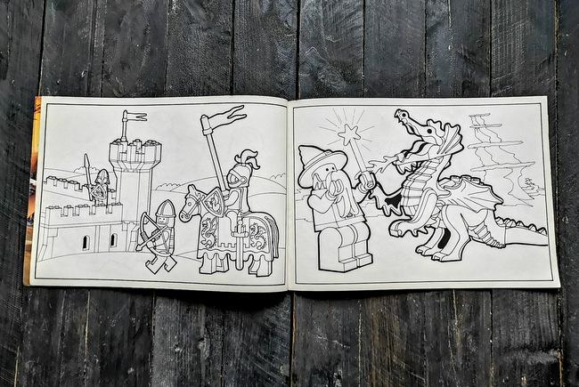LEGO Malbuch 1994 Seite 10 und Seite 11