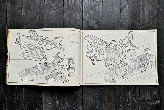 LEGO Malbuch 1994 Seite 6 und Seite 7