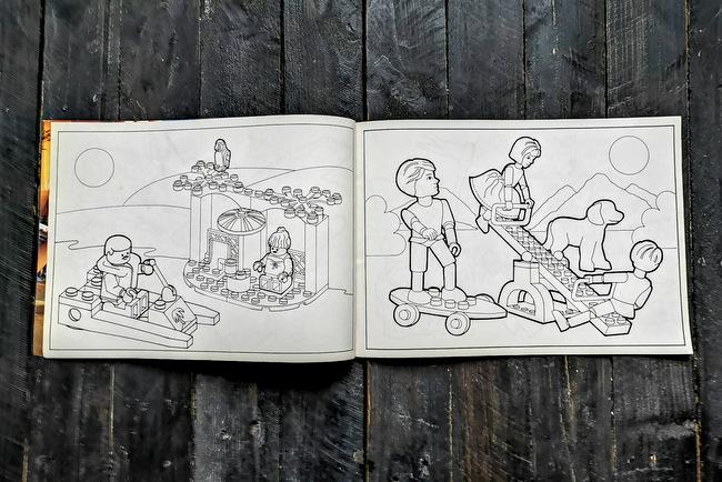 LEGO Malbuch 1994 Seite 8 und Seite 9